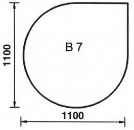 ORANIER Bodenplatte Tropfen B7