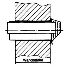 Frischluft-Abgasrohr mit Windschutz