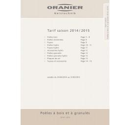 Tarif saison Poêles à bois et à granulés 2014 / 2015