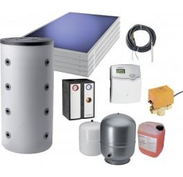 ORANIER Komplettpaket 3: Pelletofen mit Energiespeicher und Solarmodul