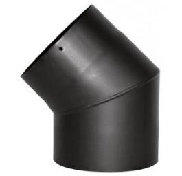 Zubehör Rauchrohrbogen 45° in den Farben Schwarz oder Gussgrau