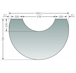 Glas-Vorlegeplatte Polar Neo 8 / Polar Neo W+ / Polar Neo Aqua