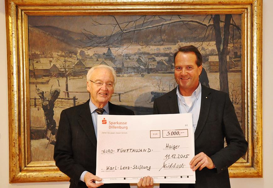 ORANIER-Gruppe unterstützt Karl-Lenz-Stiftung mit 5.000 Euro