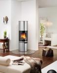presse neues kaminofendesign edelstahl. Black Bedroom Furniture Sets. Home Design Ideas