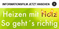 """Der Informationsfilm """"Heizen mit Holz - So geht´s richtig!"""""""